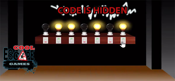 image of 7 bulbs escape: place the bulbs and get the code