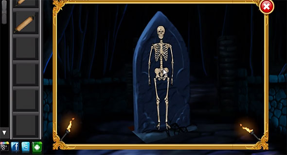 escape from the graveyard: complete the skeleton to get the key
